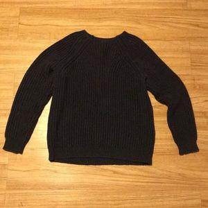 J crew cotton navy sweater